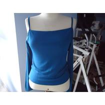 Blusa Em Lycra Azul Royal Tam 40