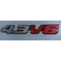 Emblema Resinado 4.3 V6 Blazer S10 2001 - Mmf Auto Parts