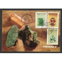 Max056 - 1977- Pedras Preciosas Brasileiras. Máximo Postal.