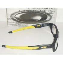 Armação Oculos Grau Crosslink Preto Amarelo Haste Removivel
