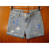 Short Jeans Queima De Estoque Exclusive Of Decoration,novo