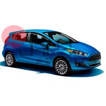 Calha Defletor Chuva New Fiesta Hatch 2014 Design Inteiriça