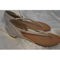 Sandalia De Dedo Corello Cru Com Dourado Elegante E Delicada