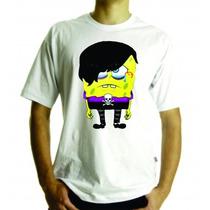 Camiseta E Baby Look Bob Esponja Emo, Adulto E Infantil