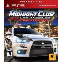 Midnight Club Los Angeles Ps3 Complete Edition Lacrado