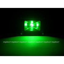 Holofote Refletor Led Verde 12v -10w Blindado Multiuso Show