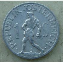 9181 Austria 1 Shilling 1947, Alum 25mm - Escassa Republik