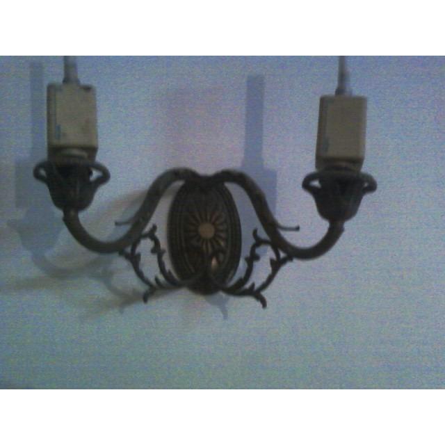 Arandela De Bronze Anos 60 Para Duas Lampadas
