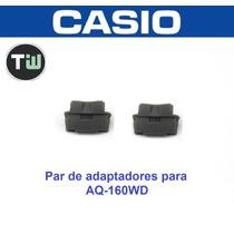 Par De Adaptadores Casio Aq-160 Para Pulseira Metal Aq-160wd