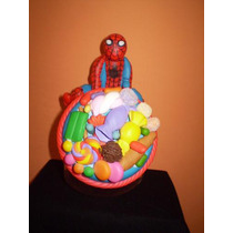 Lembrancinha De Mesa Biscuit Homem Aranha