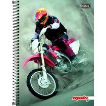 Caderno 1 Matéria 96 Folhas Linha Mais+ Motocross 2016