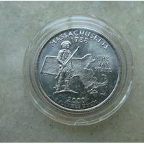 5413 Eua - Quarter Dollar 2000, Acrilico Fc, Massachusetts