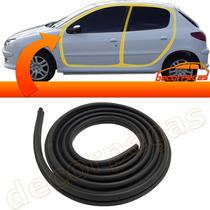 Borracha Porta Peugeot 206 Hatch E Sw 00 A 09 4 Portas Cada