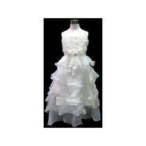 Vestido Infantil Festa/daminha/princesa Branco 8, 10, 12
