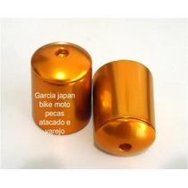 Peso Guidao Mod Rizoma Aluminio Kawazaki Laranja C-parafuso