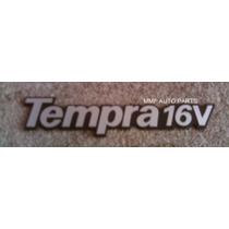 Emblema Tempra 16v (prata Com Fundo Preto) - Mmf Auto Parts
