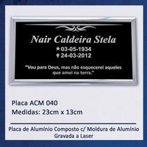 Placa, Lápide Para Jazigo / Túmulo / Cemitério - 040