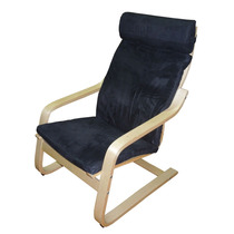 Poltrona Cadeira Relax Decorativa Design Escandinavo - Preta