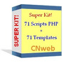 Super Kit: 71 Scripts Php + 71 Templates Editáveis!