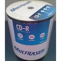 100 Cd-r Multilaser Logo Com Nf Midia Virgem Cd Lacrado 52x