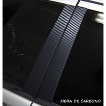 Adesivo Blackout Coluna Carro Modelo Fibra Carbono - 4 Tiras
