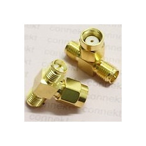 Divisor T Duplicador De Antena Sma Wireless Rp-sma Splitter