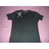 Camiseta Marc Ecko Cut And Sew Gola V Preta - Nova Com Tags