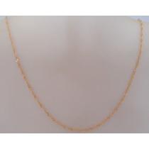 Corrente Cordão Colar De Ouro 18k Feminina Singapura 40cm