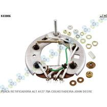 Placa Retificadora Alternador A127 28v 70a John Deere