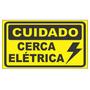 Placa Cuidado Cerca Elétrica 15 X 25 Cm
