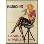 Paris Mulher Cadeira Passaro Poster Repro
