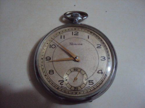 20bf5c0c125 Relógio De Bolso Antigo Renova Suíço - Raro - Coleção