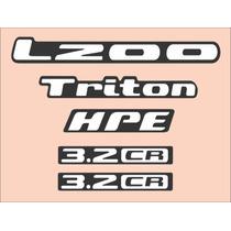 Kit Adesivos Resinados Mitsubishi L200 Triton-frete Gratis