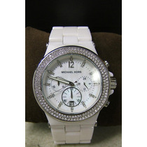 Relógio De Luxo Michael Kors Mk5391 Chronograph Cerâmico!!!