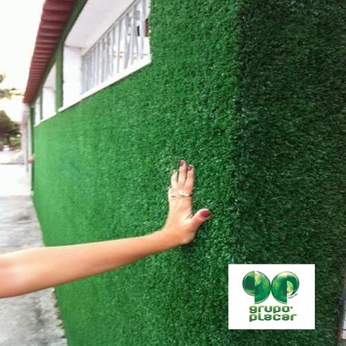 grama sintetica decorativa para jardim de inverno:Grama Sintética Decorativa Revestimento Muro Parede Viva (Outros) a