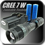 Lanterna Tatica 500 Lumens Exclusivo Led Cree 5 Zoom