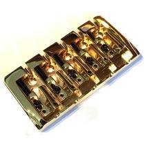 Ponte Para Baixo 5 Cordas Espaçamento 19mm, Na Cor Dourada