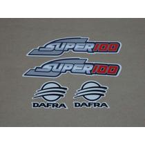 Kit Adesivos Dafra 100 2008 À 2010 Prata - Decalx