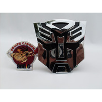 Emblema Automotivo Logo 3d Transformers Autobot Tuning Carro