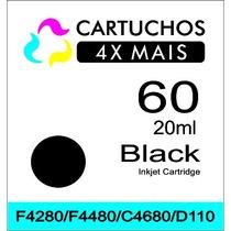 Cartucho Hp 60 Preto Com 20ml Para Hp F4280 F4480 C4680 D110