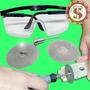 Kit 2 Discos Diamantado 50mm Corte Vidro P Dremel E Outras