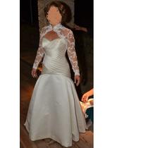 Vestido De Noiva Todo Em Seda (importado - Marca Pronovias)