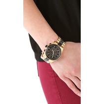 Relógio Michael Kors Unissex Dourado Preto 4,5cm Mk8265