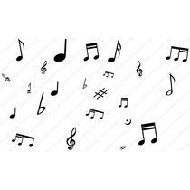 Adesivo De Parede Decorativo Kit Musica - Nota Musical Casa
