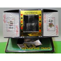 Embaralhador Eletronico Cartas Com 02 Baralho 100%plastico