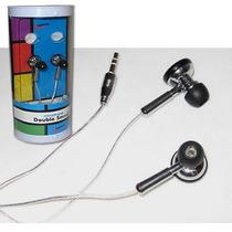 Mini Fone De Ouvido Universal Com Fio Encapado 2 Saídas Som