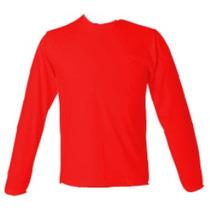 Camiseta De Malha Manga Longa Lisa 100% Algodão