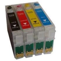Kit Cartuchos Recarregáveis T23 T24 Tx105 Tx115 +200ml Tinta