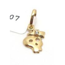 Joalheriavip Pingente Mini Caveira Ouro 18k Frete Grátis