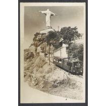 Postal Antigo Estrada De Ferro Do Corcovado Rio De Janeiro